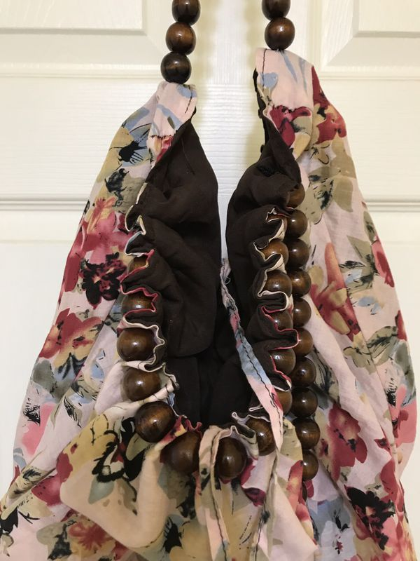 Bohemian hobo floral bag