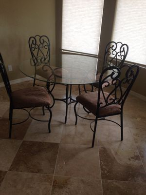 Glass kitchen table for Sale in Chandler, AZ
