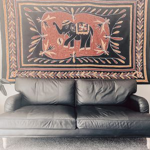 Dark Brown Leather Sofa for Sale in La Mesa, CA