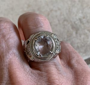 New CZ clear amethyst silver ring size 6 for Sale in Palatine, IL