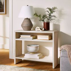 ** NEW ** Threshold Fountain Valley Pandan Wrapped Console Table White for Sale in Orange,  CA