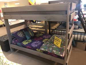 Rusty Plank wood style twin on twin bunk bed for Sale in Chandler, AZ