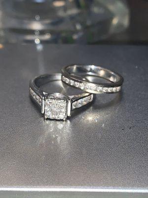 14K White Gold Wedding Set for Sale in Henderson, NV