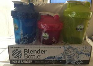 3 pack blender bottles for Sale in Las Vegas, NV