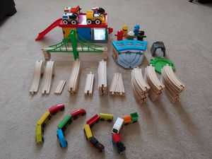 IKEA toys lot; 5-set Train track, people, cars & garage; Barely Used; $50 for Sale in Riverside, CA