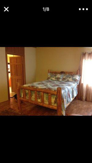 Elk horn Log Furniture Custom Queen for Sale in Bend, OR