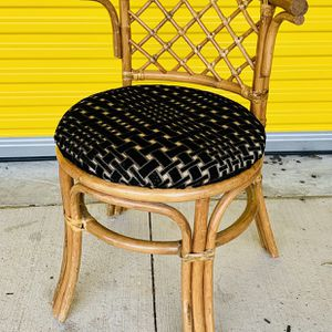 Vintage Mid Century Modern Bamboo Rattan Vanity Stool Chair for Sale in Pflugerville, TX