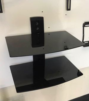 New in box 2 tiers DVD game console cable box wall mount stand with cable management 16x10 inches platform for Sale in Covina, CA
