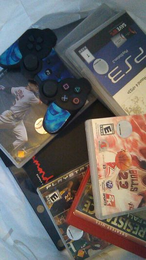 ps3 and 1 remote 5 games and two brand new pair of shoes 100 for Sale in Hesperia, CA