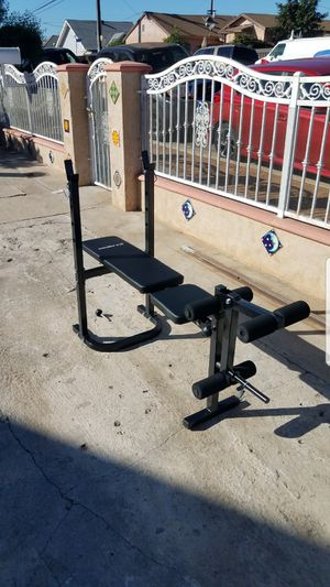 Foldable Standard width bench press with leg developer NEW Bench only for Sale in Los Angeles, CA