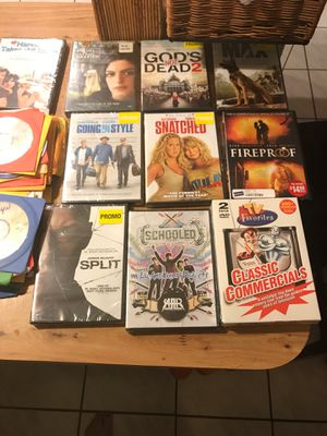 60 DVD movies some never opened for Sale in Pompano Beach, FL