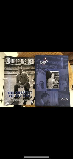 Dodgers 2016 Vin Scully Media Guide and insider 2016 for Sale in Baldwin Park, CA