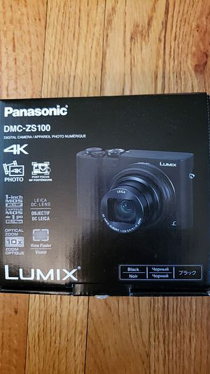 PANASONIC LUMIX ZS100 4K Digital Camera, 20.1 Megapixel 1-Inch Sensor 30p Video Camera for Sale in Glendale, CA