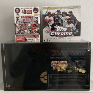 Pokémon Ultra Premium Box, 2020 Topps Update, NFL Contenders. TRADING FOR NBA HOOPS!! for Sale in Tustin, CA