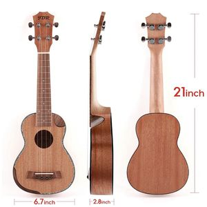 Soprano Ukulele Mahogany 21 Inch Small Hawaiian Guitar with Carbon Strings Protective Bag and Beginner's Manual for Children Adults for Sale in San Francisco, CA