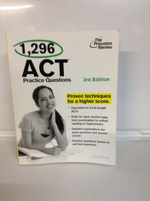 Princeton Review: 1296 ACT Practice Questions for Sale in Lakewood, CO