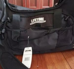 LIFETIME FITNESS BRAND GYM DUFFLE BAG - BRAND NEW Still in original MANUFACTURE PACKAGING WITH TAG for Sale in Plymouth, MI