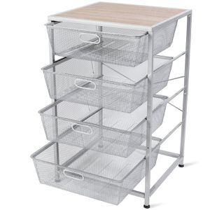 Mesh Storage Basket 4 Drawer Multifunction Utility Heavy Duty Storage Organizer, for Kitchen and Bathroom Organization for Sale in Chino, CA