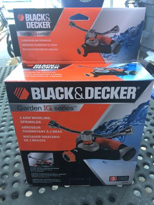 Black & Decker 2 Arm Whirling Sprinkler with Wheels for Sale in Riverview, FL