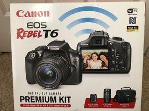 Canon EOS Rebel t6 bundle for Sale in Lawrenceville, GA