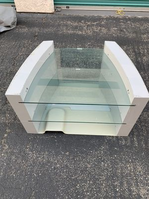 Glass shelf tv display stand for Sale in Fullerton, CA