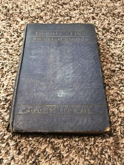 Twenty-Five Selected Stories 1929 Vintage Book for Sale in French Creek,  WV