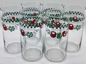 Corelle Libby FARM FRESH Glassware Tumblers Drinking Glasses Vintage Collectable for Sale in Fresno, CA