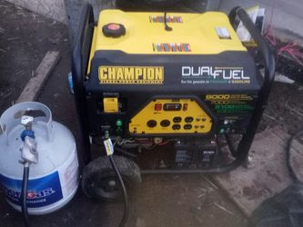 Champion9000 Watts Generator Dual Fuel Electric Start Almost New Only Low Hours Running Time On It$ 1200 In Storeasking $875 for Sale in Sacramento,  CA