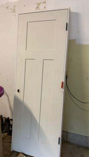 Pre hung interior door black hinges 29x80 for Sale in Columbus, OH
