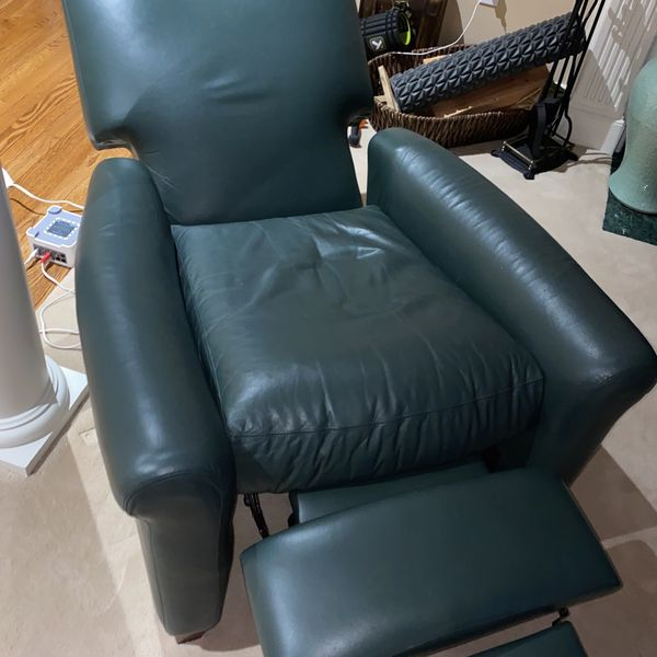 Genuine Leather Green Reclining Chair