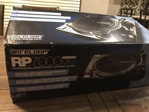 Reloop RP-7000 MK2 Direct-Drive Turntable, Black . Brand new in the box for Sale in Phoenix, AZ