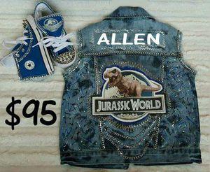 Jurrasic world boy custom vest for Sale in Columbus, OH