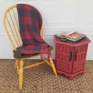 Vintage Hexagon Cabinet / Side Table - Custom Painted for Sale in Clermont, FL