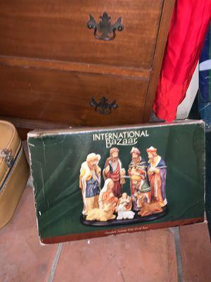 Vintage nativity scene in box for Sale in Los Angeles, CA