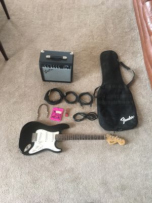 Squire Strat by Fender electric guitar and gear for Sale in Willards, MD