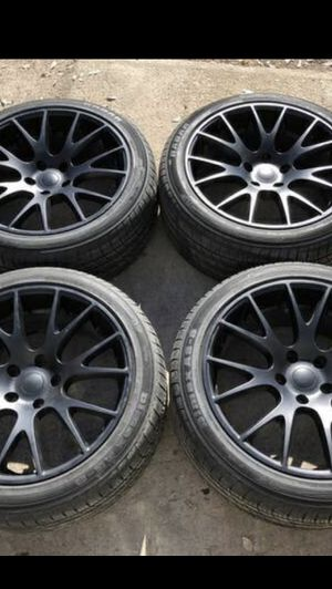 """Brand new 20"""" Black Dodge Rims and New tires 20 Wheels 20s Rines y Llantas will fit Charger , Challenger , Chrysler 300 , 300c for Sale in Dallas, TX"""