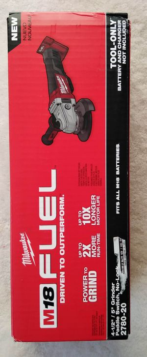 """Milwaukee 41/2""""-5"""" GRINDER Paddle Switch, No-lock M18: Fuel/Brushless (No Battery)Nuevo for Sale in Los Angeles, CA"""