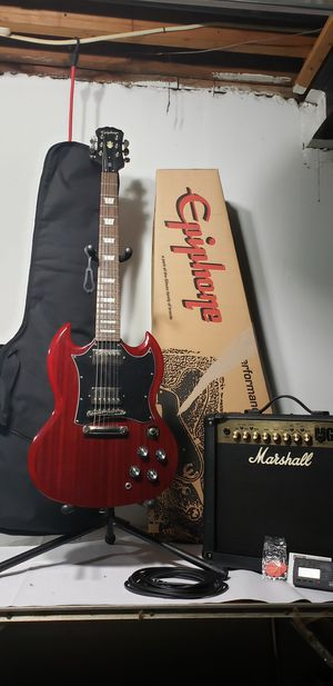 Guitar and amplifier for Sale in Redford Charter Township, MI