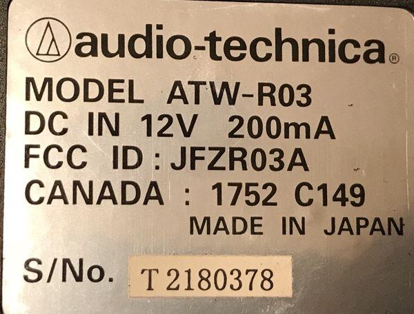 Audio technica ATW-127 pro series systems