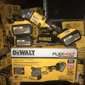 "Dewalt 60v brushless 4 1/2"" - 6"" grinder kit with kickback brake (KIT OR TOOL ONLY for Sale in Antioch, CA"