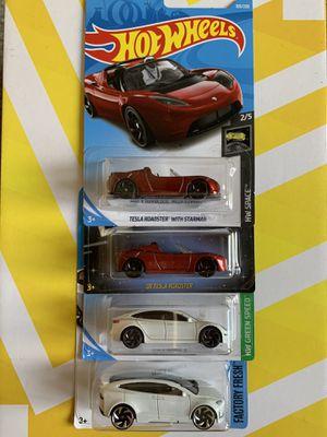 Hot wheels Tesla - Set of 4 for Sale in Jurupa Valley, CA