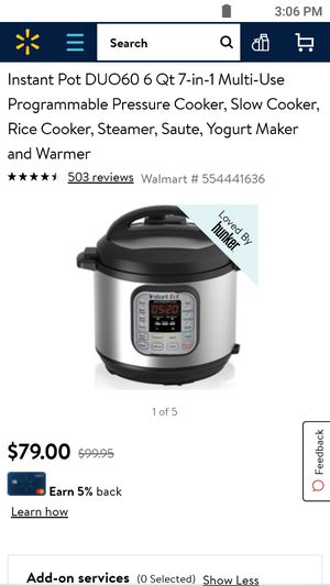Instant Pot DUO60 6 Qt 7-in-1 Multi-Use Programmable Pressure Cooker, Slow Cooker, Rice Cooker, Steamer, Saute, Yogurt Maker and Warmer Retail $79.99 for Sale in Las Vegas, NV