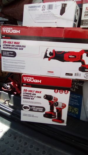 Hypertough cordless drill, impact driver, and reciprocating saw for Sale in Santee, CA
