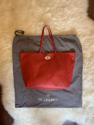 Mulberry Dorset Leather Tote. Light Weight Red for Sale in Los Angeles, CA