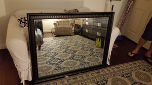 Black frame mirror great condition 35x39 for Sale in San Bernardino, CA