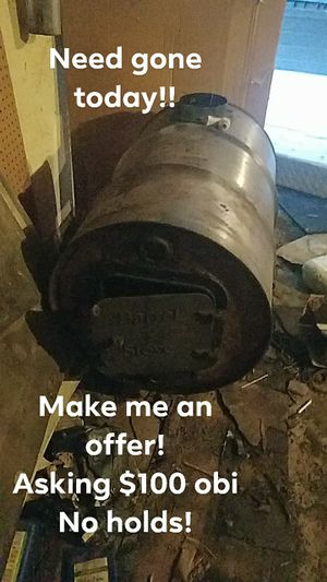55 gal barrel stove and pipe for Sale in Salem, KY