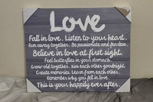 Wall canvas (Love wall decor) for Sale in Montclair, CA