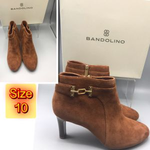 Brand New Women's Bandolino Suede Leather size Zipper Boot size 10 for Sale for sale  Red Bank, NJ
