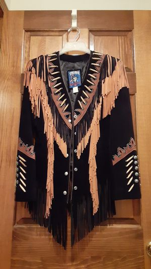 Brand new tribe America fringed leather jacket for Sale in Overland Park, KS