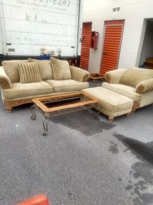 Sofa and oversized chair and ottoman for Sale in Stone Mountain, GA